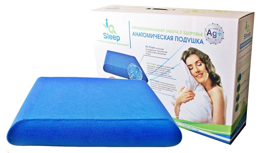 анатомическая подушка iqsleep в упаковке
