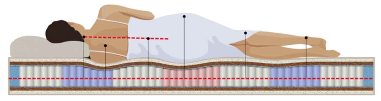 Анатомическое положение человека на матрасе